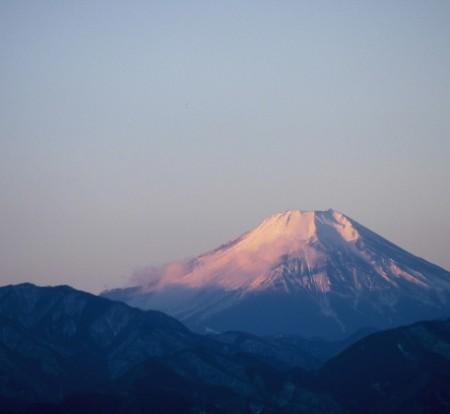 山頂から見える富士山