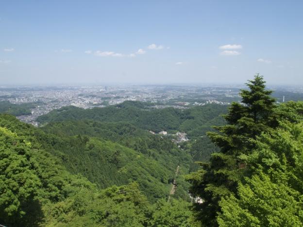 高尾山霞台展望台の景色