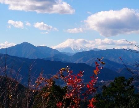 山頂からの秋の富士山