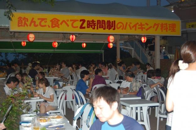 高尾山ビアガーデン/ビアマウント会場の様子