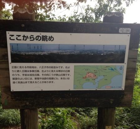 稲荷山コース看板